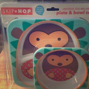 Skip Hop bowl and plate set